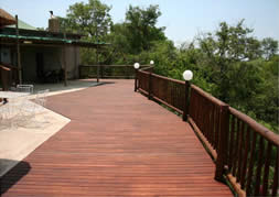 Services include Wooden Decking for patios and entertainment areas.